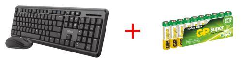 Trust ODY set klávesnice s myší + baterie