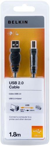 BELKIN USB 2.0 kabel A-B, řada standard, 1.8 m