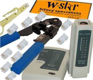 UTP tester+kleště+stripovač narážeč+10xRJ45